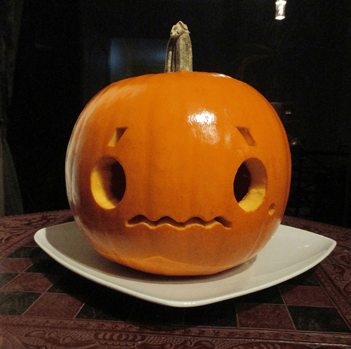 Japanese Emoticon Pumpkin