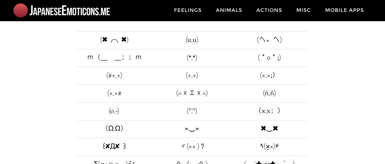 Dead Emoticons